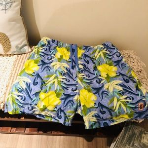 Tommy Bahama Swim Trunks Size L Floral Print